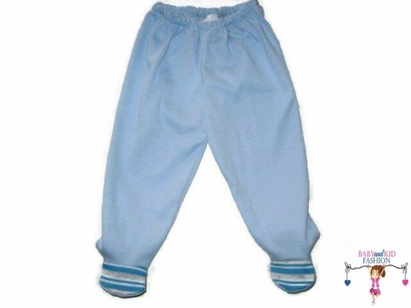 baba talpas nadrág, kék színű, kisgyerekeknek, termékkép.
