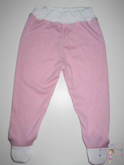lábfejes baba nadrág, rózsaszín színű, lány, kisbabáknak, termékkép.