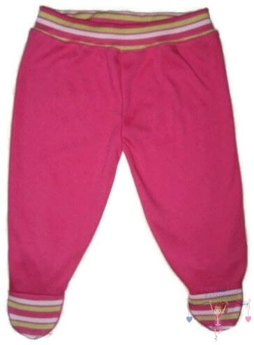 lábfejes babanadrág, pink színű, kisgyerekeknek, termékkép.