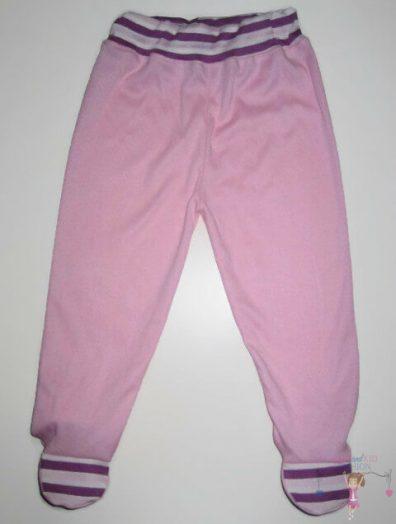 lábfejes babanadrág, rózsaszín színű, kisbabáknak, termékkép.