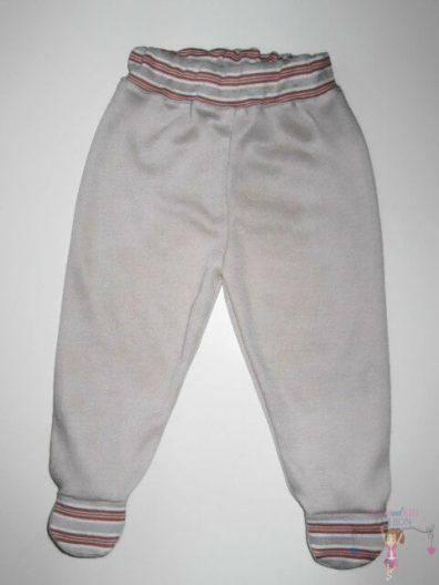 lábfejes babanadrág, drapp színű, talpas nadrág kisgyerekeknek, termékkép.
