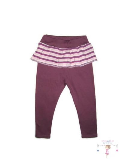 lányka leggings, lila színű, hosszú szárú, kislányoknak, termékkép.