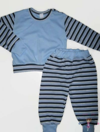 baba pizsama, kék színű, kisfiúknak, termékkép.