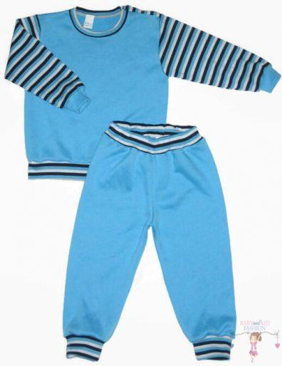 baba pizsama, türkizkék színű, kisfiúknak, termékkép.