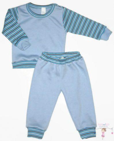 gyerek pizsama, kék színű, kisfiúknak, termékkép.