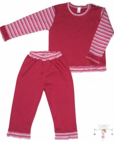 pizsama belül bolyhos, téli, pink színű, kislányoknak, termékkép.