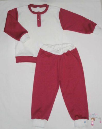 pizsama, fehér színű, két részes, kisbabáknak, termékkép.