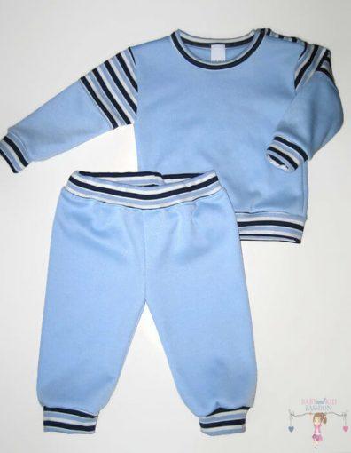 baba pizsama, hosszú ujjú felső hosszú nadrággal, világoskék színű, kisfiúknak, termékkép.