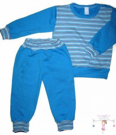 gyerek pizsama, kék színű, hosszú ujjú felső hosszú fazonú nadrággal, kék színű, termékkép.