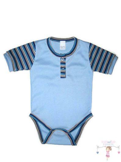 baba body, világoskék színű, rövid ujjú, kisbabáknak, termékkép.