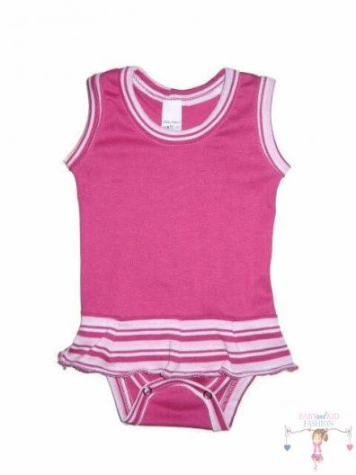 baba body, pink színű, ujjatlan, kislányoknak, termékkép.