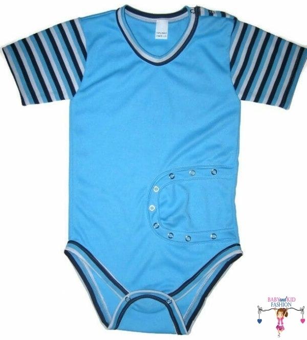 baba body, peg body, türkizkék, rövid ujjú, kisbabáknak, termékkép.
