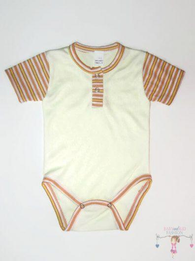 baba body, sárga színű, rövid ujjú, kisbabáknak, termékkép.