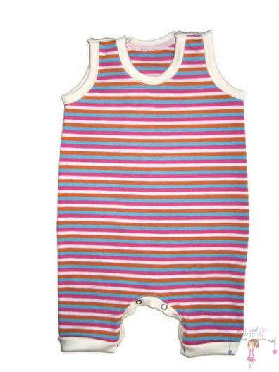 baba body, rövid szárú, pink csíkos, kislányoknak, termékkép.