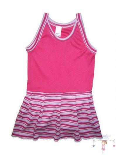 szoknyás gyerek body, pink színű, spagetti pántos, kislányoknak, termékkép.