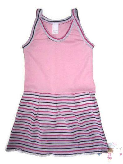 szoknyás gyerek body, rózsaszín színű, spagetti pántos, kislányoknak, termékkép.