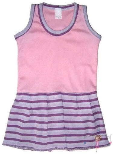 szoknyás gyerek body, rózsaszín színű, ujjatlan, kislányoknak, termékkép.