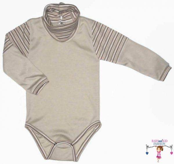 baba body, garbós drapp színű, kisbabáknak, termékkép.