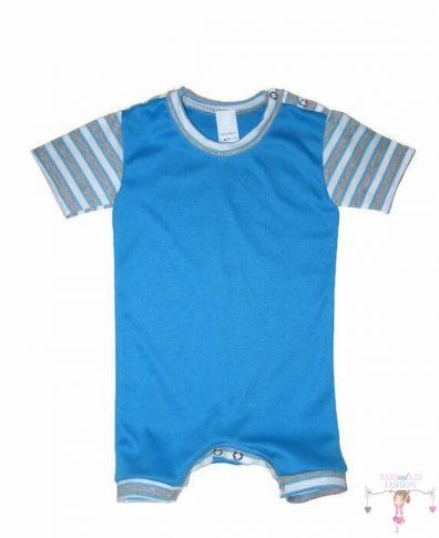 baba body, türkizkék színű, rövid ujjú, rövid szárral, kisbabáknak, termékkép.