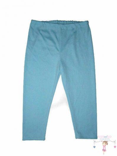 lány halásznadrág, rövid tapadós almazöld leggings nadrág, termékkép.