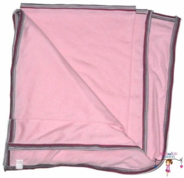 babatakaró, rózsaszín lányos, csíkos szegővel, kisbabáknak, termékkép.