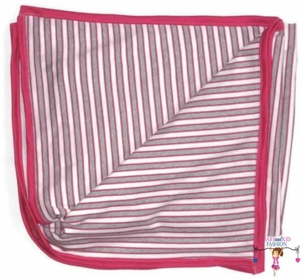 babatakaró, pink lányos csíkos, kisbabáknak, termékkép.