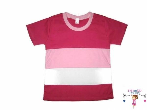 gyerek póló, 3 színű, rövid ujjú, kislányoknak, termékkép.