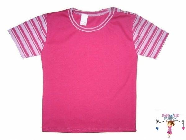 gyerek póló, pink színű, rövid ujjú, kislányoknak, termékkép.