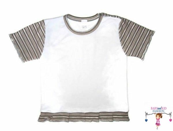 gyerek póló, fehér színű, rövid ujjú, kislányoknak, termékkép.