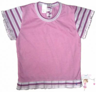 gyerek póló, lila színű, rövid ujjú, kislányoknak, termékkép.
