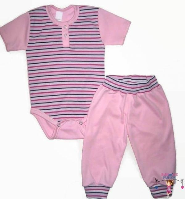 baba body és nadrág, két darabos szett, body és hosszú nadrág, kislányoknak, termékkép.
