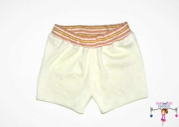 pamut rövid nadrág, sárga színű, kislányoknak, termékkép.