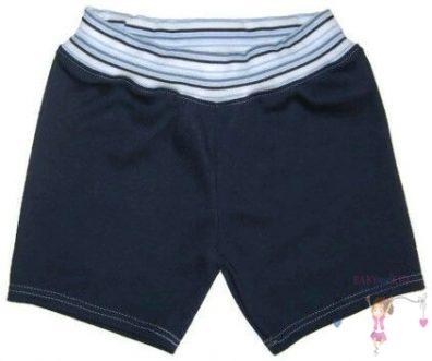 pamut pamut rövid nadrág, sötétkék színű, kisgyerekeknek, termékkép.