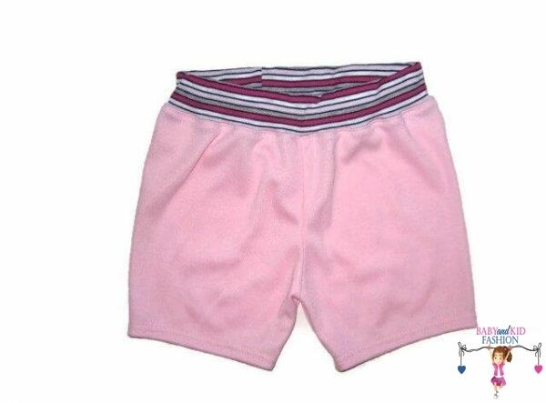 lány pamut rövid nadrág, rózsaszín színű, kislányoknak, termékkép.