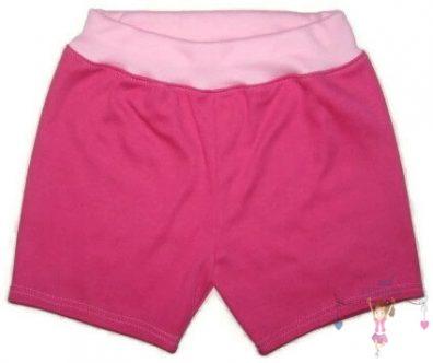 lány pamut rövid nadrág, pink színű, kislányoknak, termékkép.