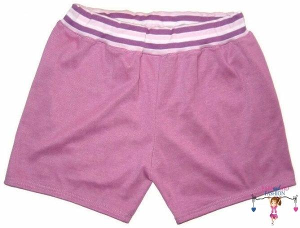 lány pamut rövid nadrág, lila színű, kislányoknak, termékkép.