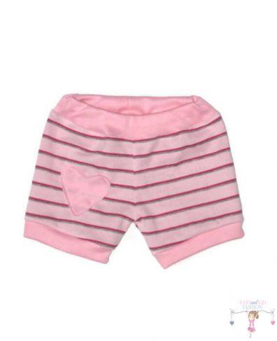f4c50dfcb1 Lány pamut rövid nadrág, rávarrt szív mintával. - Baby and Kid Fashion