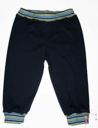 pamut melegítő nadrág, sötétkék színű, 50-146, kisgyerekeknek, termékkép.