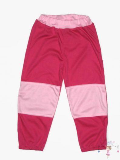 baba nadrág, pink, babarózsaszín térdfolttal, hosszú nadrág, kisbabáknak, termékkép.