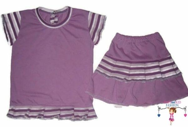 kislány ruha szettek, lila két részes szett, kisgyerekeknek, termékkép.