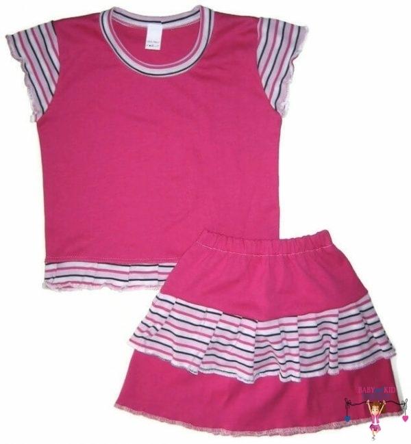 kislány ruha szettek, pink két részes szett, kisgyerekeknek, termékkép.