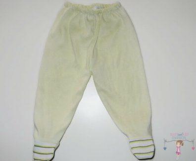 baba talpas nadrág, sárga színű, kisgyerekeknek, termékkép.