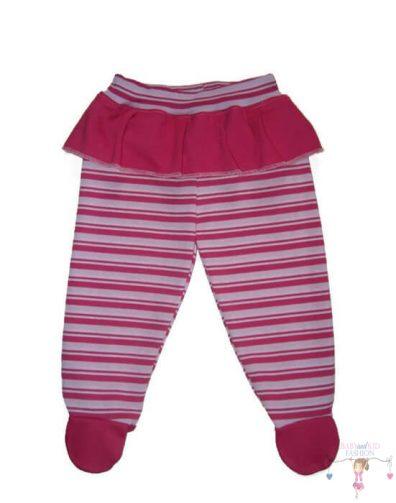 baba talpas nadrág, pink csíkos, kisgyerekeknek, termékkép.