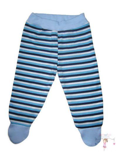 baba talpas nadrág, kék csíkos, kisgyerekeknek, termékkép.