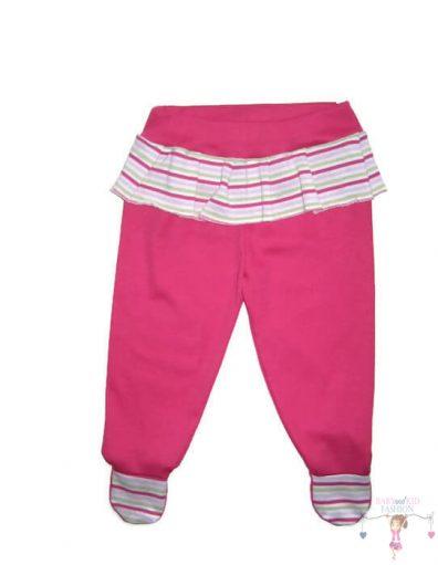 baba talpas nadrág, pink színű, kisgyerekeknek, termékkép.
