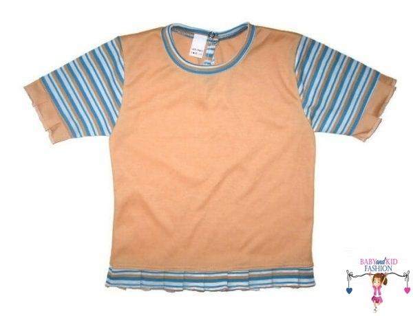 gyerek póló, barack színű, rövid ujjú, kislányoknak, termékkép.