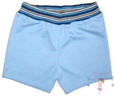fiú pamut rövid nadrág, világoskék színű, kisgyerekeknek, termékkép.