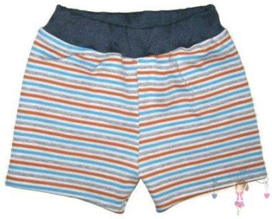 fiú pamut rövid nadrág, csíkos, kisgyerekeknek, termékkép.