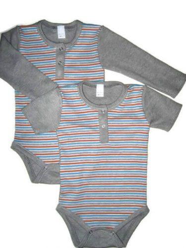 Felnőtt baba body, rövid ujjú és hosszú ujjú csíkos body, kép.