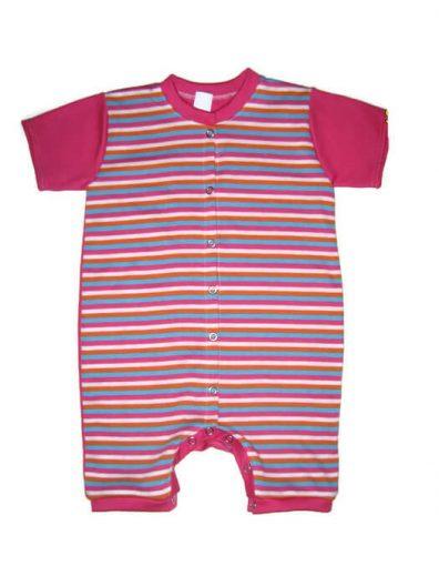 baba napozó, pink csíkos kislányos, ujjatlan, termékkép.